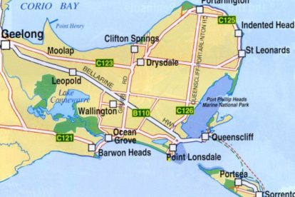 Bellarine Peninsula Map