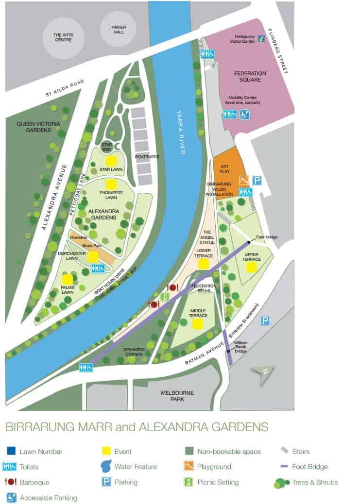 Alexandra Gardens Map