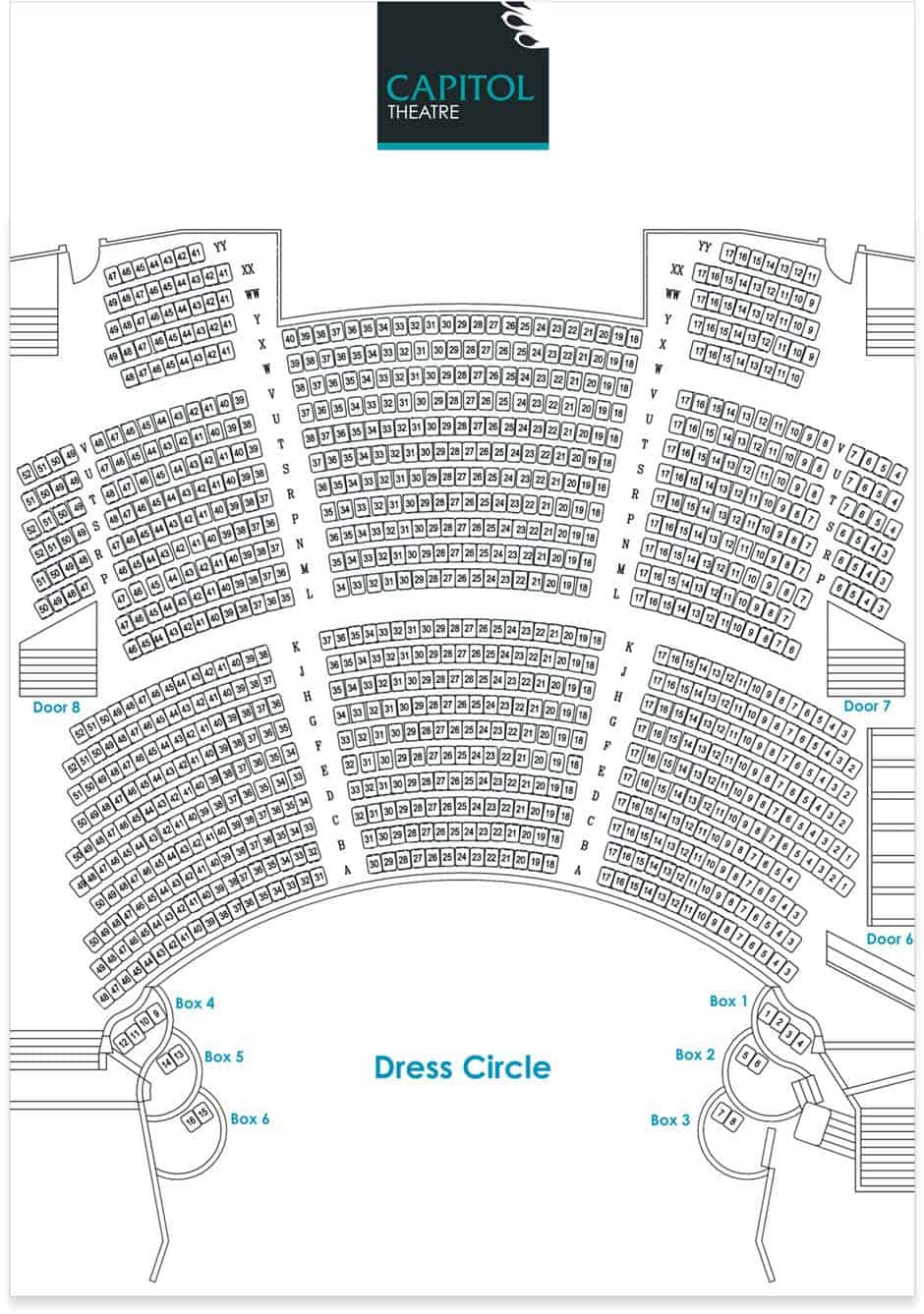 Dress circle seating