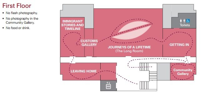 Immigration Museum Map 2