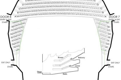 State Theatre seating plan balcony