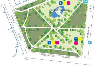 Treasury Gardens Map