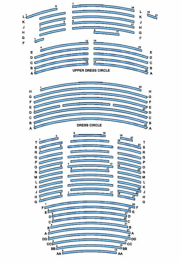 athenaeum theatre seating plan