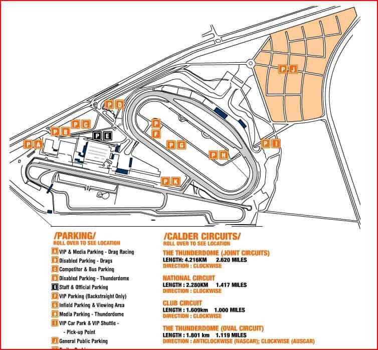calder park map