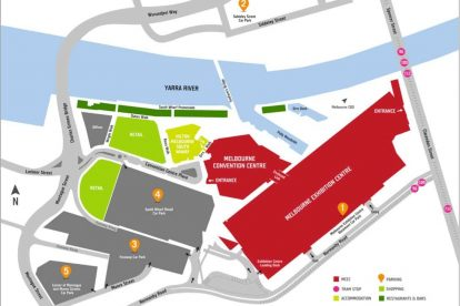 melbourne convention and exhibition centre map