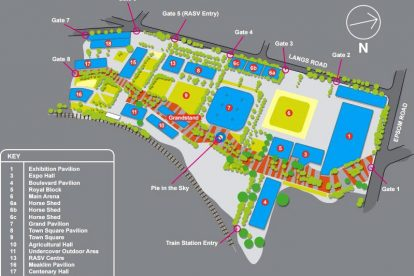 melbourne showgrounds map