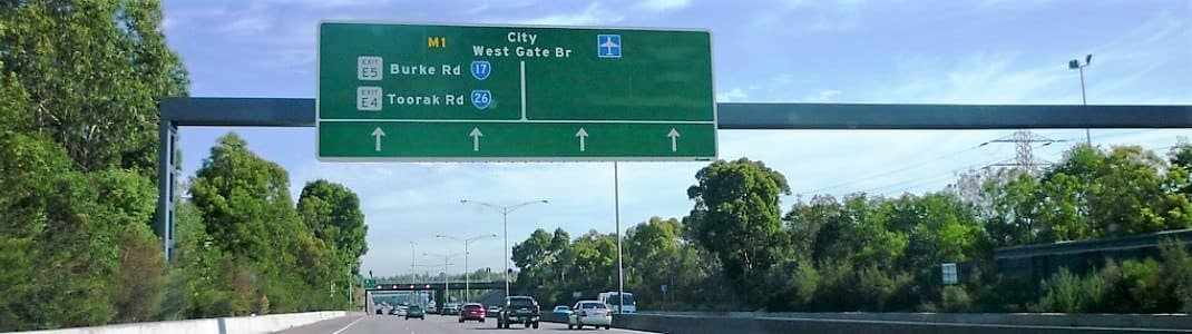 Monash Freeway (M1) Melbourne - Tolls & Map