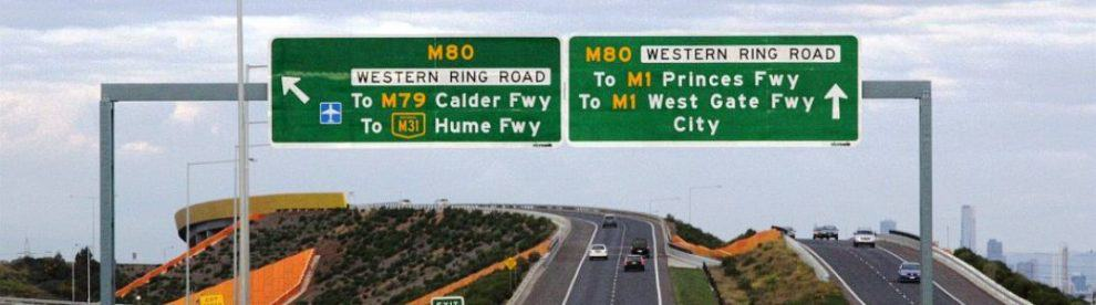 Western Ring Road - Map and Travel Times, Melbourne