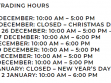 Collins Place Christmas Trading Hours