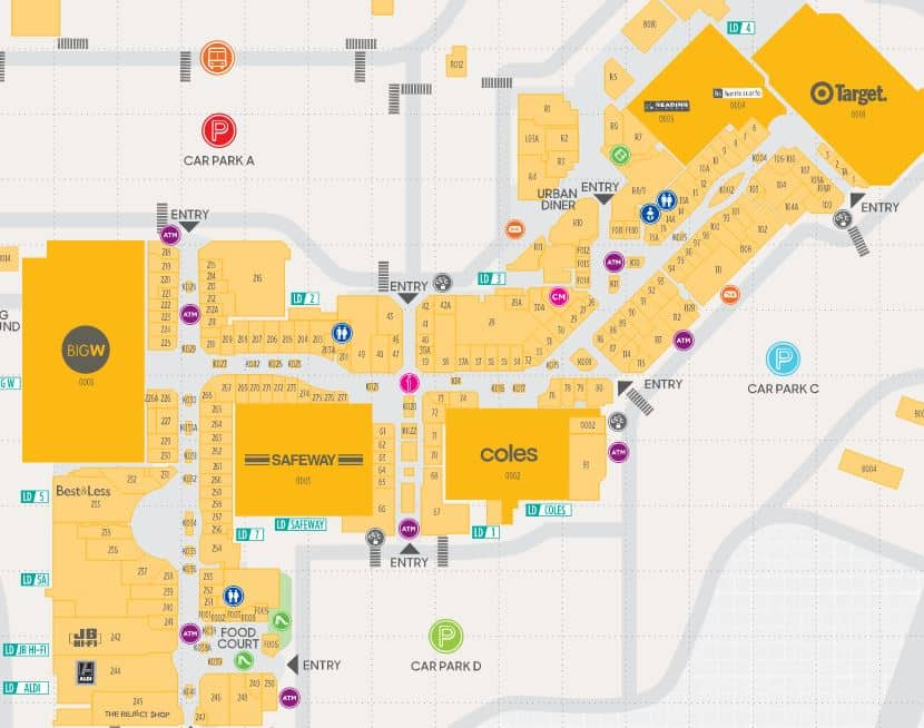 Map Of Chadstone Car Park