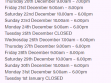 Spencer Outlet Centre Christmas Trading Hours