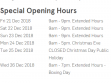 Watergardens Christmas Trading Hours