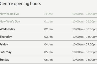 DFO South Wharf Christmas Trading Hours
