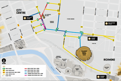 2018 AFL Grand Final Parade Road Closures