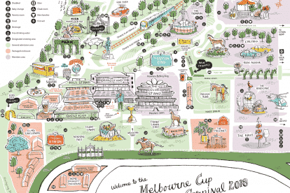Flemington Racecourse Melbourne Cup Carnival Map 2018