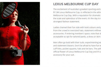 Melbourne Cup Fashion Style Guide