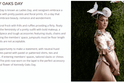 Oaks Day Fashion Style Guide