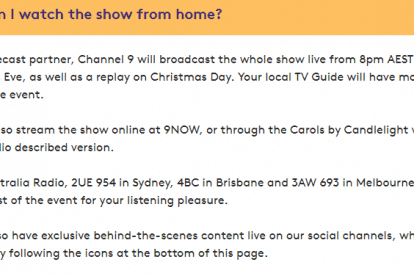 How can I watch the show from home
