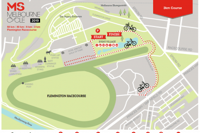 3km Cycle Course Map