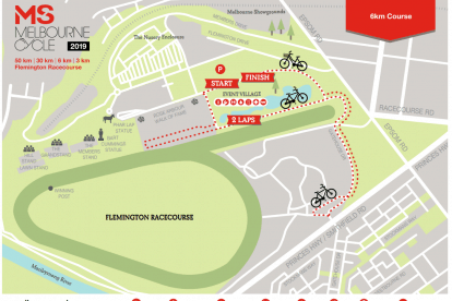 6km Cycle Course Map