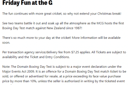 Boxing Day Test Day 2