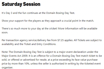 Boxing Day Test Day 3