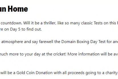 Boxing Day Test Day 5