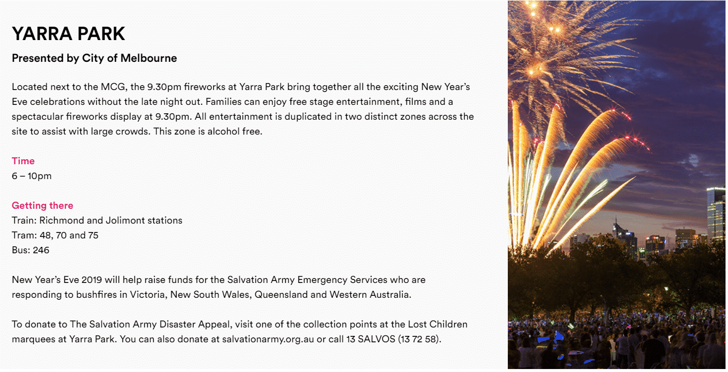 New Years Eve Melbourne - 2019 Events & Fireworks ...