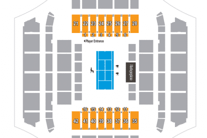 Melbourne Arena Map